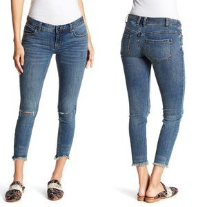 Free People Skinny Low Rise Destroyed Jeans Sz 27